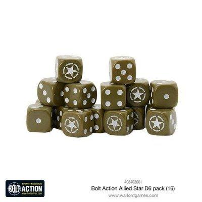 Bolt Action Allied Star D6 pack - Blau - Bolt Action