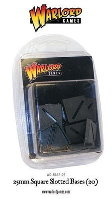 25mm Square Slotted bases (20) - Warlord Games