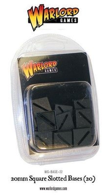 20mm Square Slotted bases (20) - Warlord Games