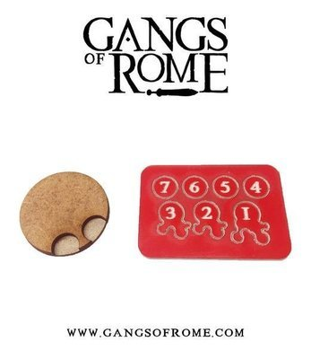 Jigsaw Base & 7 Flesh Markers - Gangs of Rome - Warlord Games