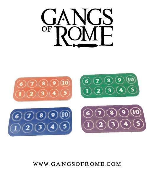 Jigsaw Base & 7 Flesh Markers - Gangs of Rome - Warlord Games