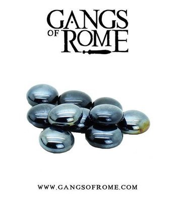 Black Activation Pebbles (10) - Gangs of Rome - Warlord Games
