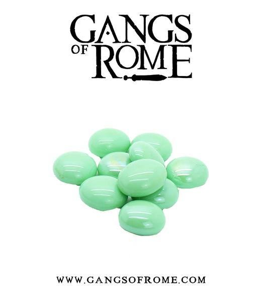 Green Activation Pebbles (10) - Gangs of Rome - Warlord Games