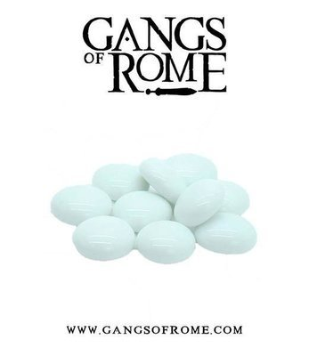 White Activation Pebbles (10) - Gangs of Rome - Warlord Games