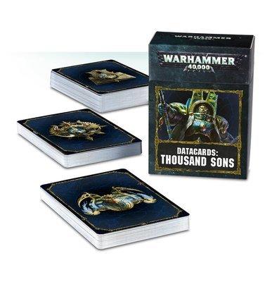 Datakarten DATACARDS: THOUSAND SONS (ENGLISH) - Warhammer 40.000 - Games Workshop