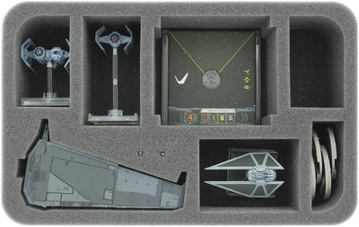 Schaumstoffeinlage für Star Wars X-WING 1 x Upsilon Class und Zubehör - Feldherr