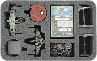 Schaumstoffeinlage für Star Wars X-WING 2 x ARC-170 oder K-Wing Raumschiffe und Zubehör - Feldherr