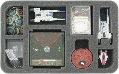 Schaumstoffeinlage für Star Wars X-WING U-Flügler, Raumschiffe und Zubehör  - Feldherr
