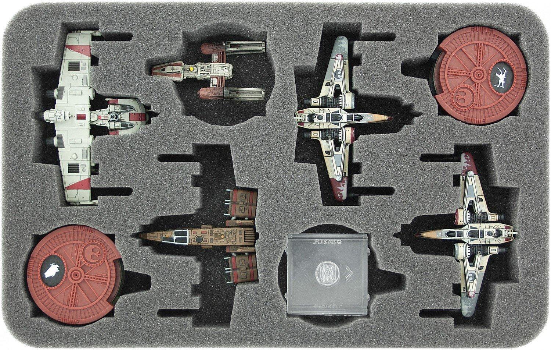 Schaumstoffeinlage für Star Wars X-WING 4 x ARC-170 oder K-Wing und Zubehör - Feldherr