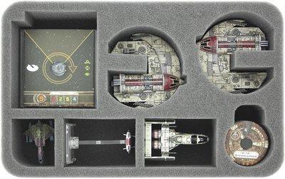 Schaumstoffeinlage für Star Wars X-WING 2 x Vollstrecker Eins, Raumschiffe und Zubehör  - Feldherr