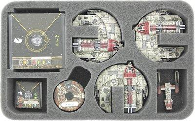 Schaumstoffeinlage für Star Wars X-WING 3 x Vollstrecker Eins, Raumschiffe und Zubehör   - Feldherr