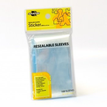 Resealable Sleeves - Sticker (52x67mm) - 100 Pcs