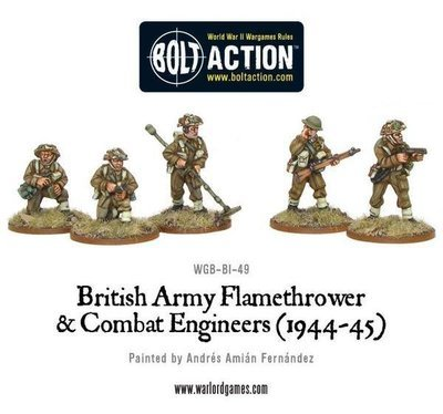 British Flamethrower & Combat Engineers - Bolt Action - Warlord Games