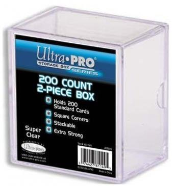 2-Piece 200 Count Clear Card Storage Box - Ultra Pro