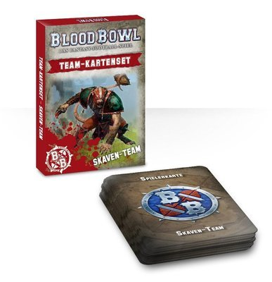 Blood Bowl Team-Kartenset der Skaven (Deutsch) - Blood Bowl - Games Workshop