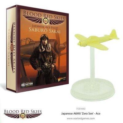 Japanese A6MX 'Zero-Sen' Ace - Saburō Sakai - Blood Red Skies - Warlord Games