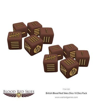 British Dice Blood Red Skies - Warlord Games