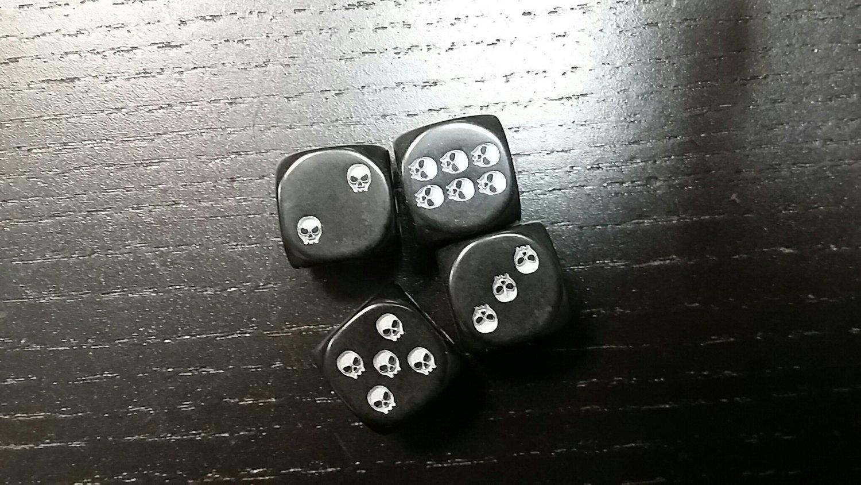 W6 Schädel Würfel - D6 Skull Dice