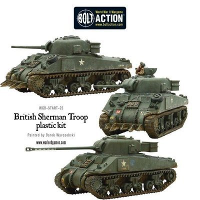British Sherman V Troop including Vc Firefly - Bolt Action - Warlord Games