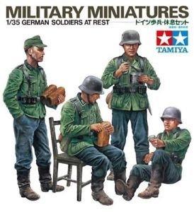 1/35 German Soldiers at Rest - Military Miniatures - Tamiya