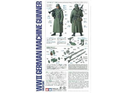 1/16th Scale World Figure Series - WWII German Machine Gunner Greatcoat - Tamiya