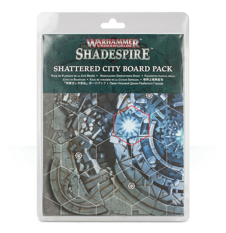 WH UNDERWORLDS: SHATTERED CITY BOARDS Bretter Spielplanset Shadespire - Games Workshop