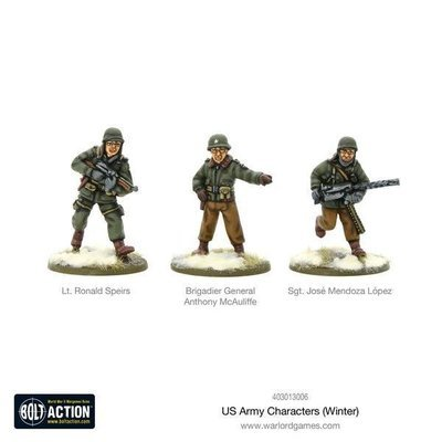 US Army Characters (Winter) - American - Bolt Action - Warlord Games
