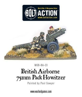 British Airborne 75mm Pack Howitzer - Bolt Action - Warlord Games