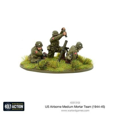 US Airborne medium mortar team (1944-45) - Bolt Action - Warlord Games