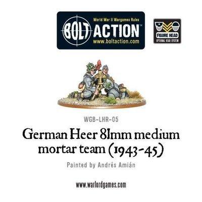 German Heer 81mm medium mortar team (1943-45) - Bolt Action - Warlord Games