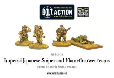 Imperial Japanese Sniper and Flamethrower teams - Bolt Action - Warlord Games