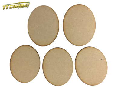 120mm x 95mm Oval Bases (5) - MDF
