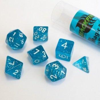 16mm Role Playing Dice Set - Magic Blue (7 Dice) - Rollenspielwürfel