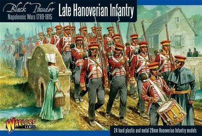 Napoleonic Hanoverian Line Infantry Regiment plastic boxed set - Black Powder - Warlord Games
