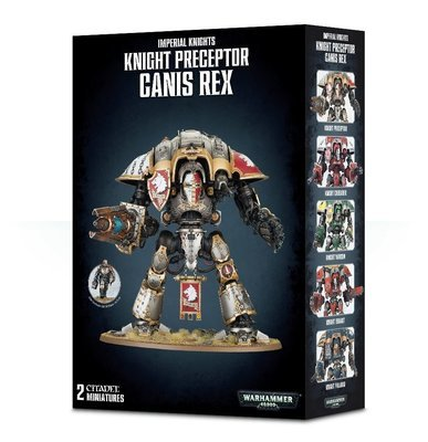 IMPERIAL KNIGHTS Knight Preceptor Canis Rex - Knight Preceptor, Canis Rex, Errant, Paladin, Warden, Gallant, Crusader- Imperial Knight Crusader - Warhammer 40.000 - Games Workshop