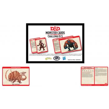Dungeons & Dragons - Monster Cards Deck Levels 0-5 (195) - EN