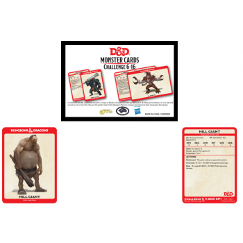 Dungeons & Dragons - Monster Cards Challenge Deck Levels 6-16 (74 Cards)