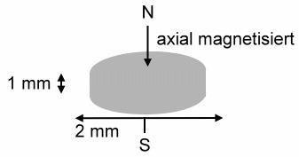 10 Neodym Magnete rund 2 x 1 mm