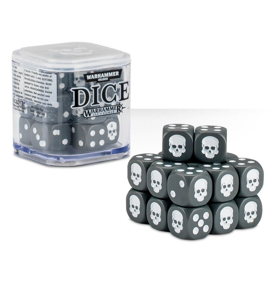 Dice Cube Würfel D6 (20) Grau - Games Workshop