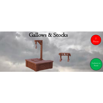 Gallows & Stocks - Terrain Crate - Mantic Games