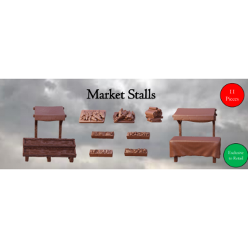 Market Stalls - Terrain Crate - Mantic Games