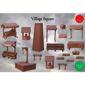 Village Square - Terrain Crate - Mantic Games
