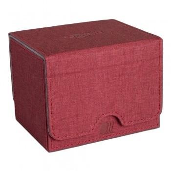 Convertible Premium Deck Box Single Horizontal 100+ Standard Size Cards - Red