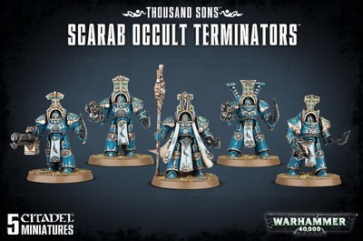 THOUSAND SONS SCARAB OCCULT TERMINATORS - Warhammer 40.000 - Games Workshop