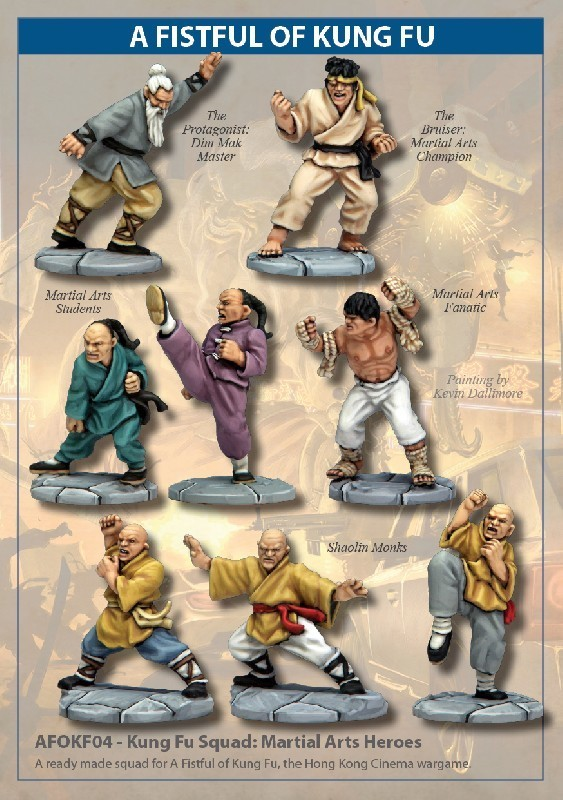 Kung Fu Squad: Martial Arts Heroes - A Fistful Of Kung Fu - North Star Figures