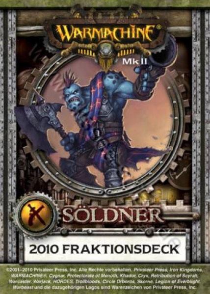 Mercenaries MKII Kartenset (e) - Fraktionsdeck 2010 - Warmachine - Privateer Press
