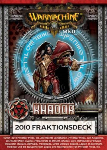 Khador MKII Kartenset - Fraktionsdeck 2010 - Warmachine - Privateer Press