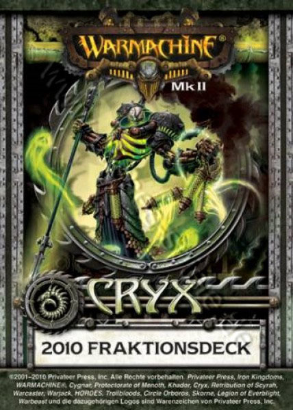 Cryx MKII Kartenset - Fraktionsdeck 2010 - Warmachine - Privateer Press
