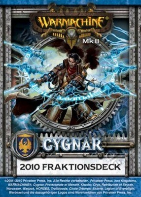 Cygnar MKII Kartenset - Fraktionsdeck 2010 - Warmachine - Privateer Press