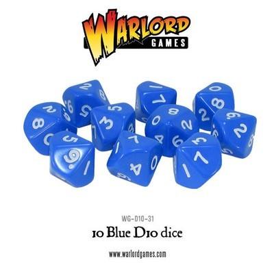 Würfel - Blau - D10 - Warlord Games